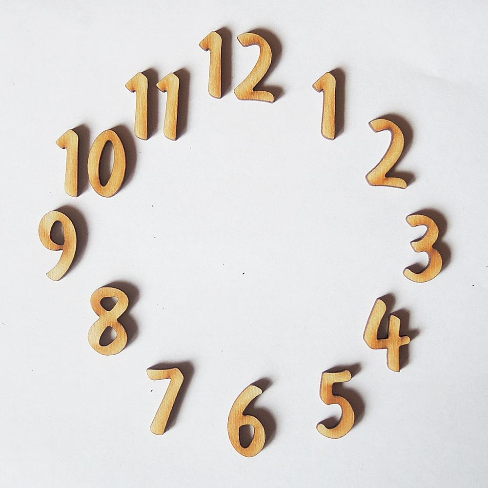 Красивые цифры для часов своими руками 707