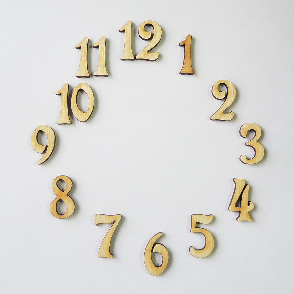 Красивые цифры для часов своими руками