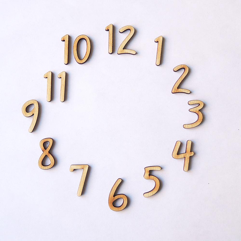 Красивые цифры для часов своими руками 978