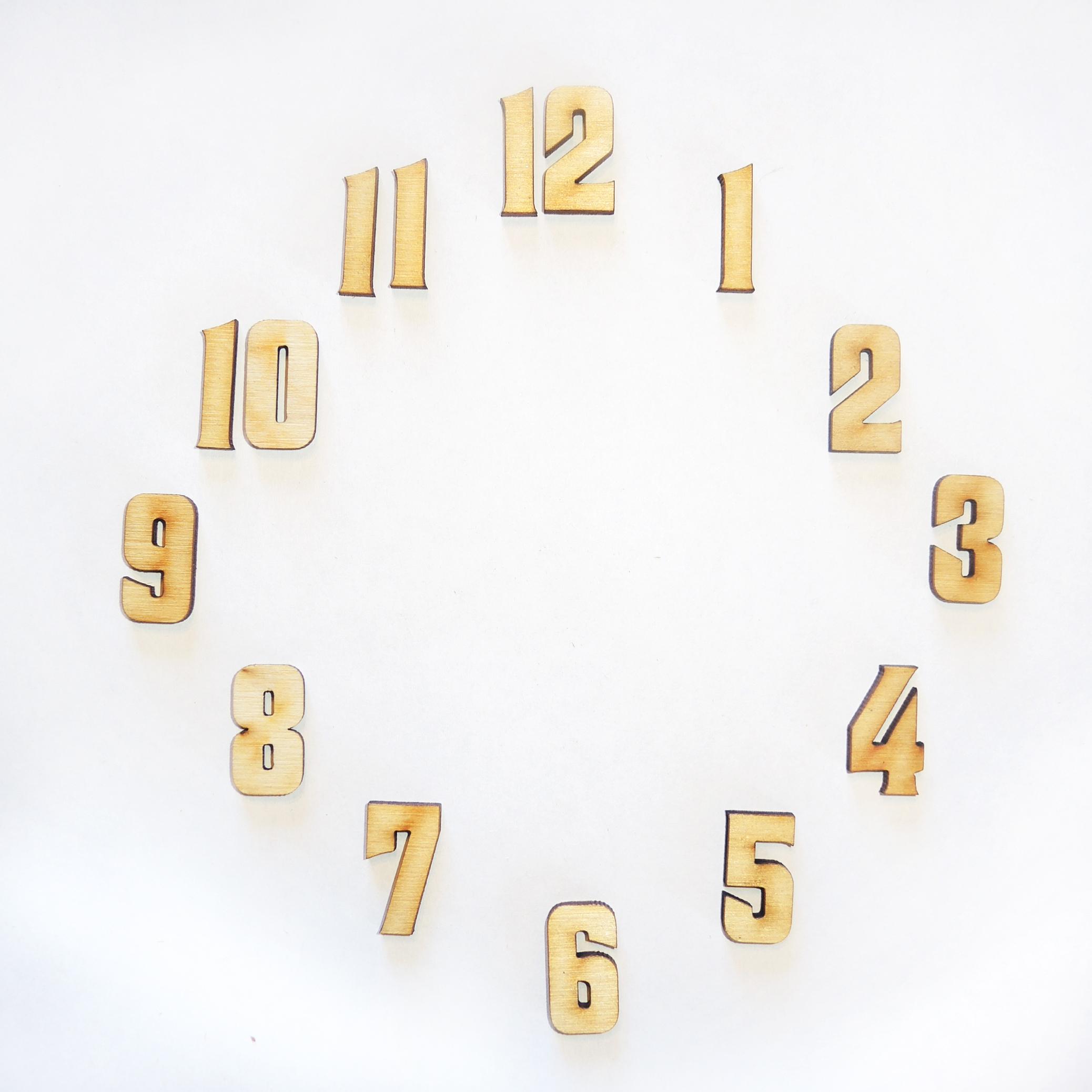 Красивые цифры для часов своими руками 814